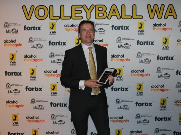 Ian Phipps Receives Order of Merit from Volleyball WA